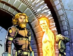 """Leonardo Da Vinci, in some ways the """"first"""" agent of SHIELD and the genesis of all SHIELD technology. Wearing a SHIELD uniform no less (with Nikola Tesla)"""