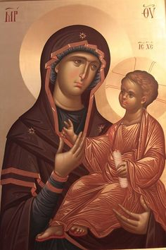 Ilie Bobaianu (Dantes) is a monk and iconographer who's work shines particularly brightly for its deep understanding of classical form in line and color. Byzantine Icons, Byzantine Art, I Love You Mother, Mother Mary, Religious Icons, Religious Art, Becoming A Monk, Paint Icon, Madonna And Child