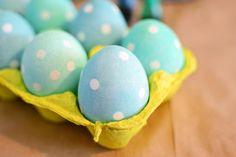 RedBirdBlue: Seeing Spots - Polka Dot Eggs!
