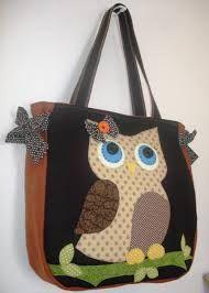 bolsa com apliques de coruja - Pesquisa Google