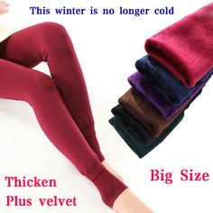 2013 Autumn and winter plus velvet thickening legging one piece pants step on the foot jeans warm pants female plus size XXL-inSocks & Hosie...