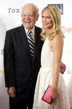 CBS News' Bob Schieffer and actress Claire Danes pose at the season three premiere of 'Homeland'   John Shinkle/POLITICO