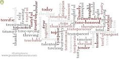 Lovely list of positive adjectives starting with L