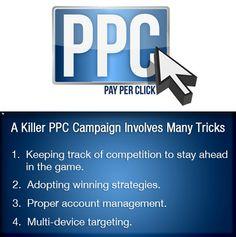 A killer PPC campaign involves many tricks