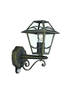 Massive Babylon Outdoor Wall Light Black and Gold Brushing (Requires 1 x 60 Watts E27 Bulb) *** Click image for more details. #GardenDecor