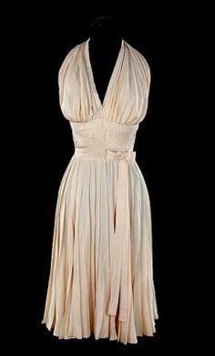 "The white subway dress worn by Marilyn Monroe in ""The Seven Year Itch."""