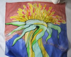 hand painted silk scarf just one original by dagamara on Etsy