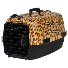 leopard print pet carriers | Leopard Pet Carrier - 19 in. | www.thatpetplace.com