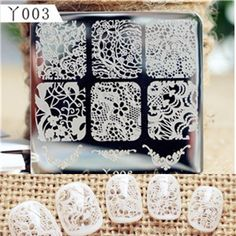 Find More Nail Art Templates Information about Elegant Lace Patterns Nail Art Stamp Template Image…