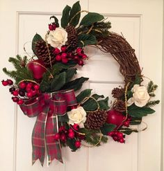 Christmas Wreath by WinstonsWreaths on Etsy