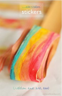 Watercolor Rainbow Salt Dough Leaves. A beautiful nature inspired ...
