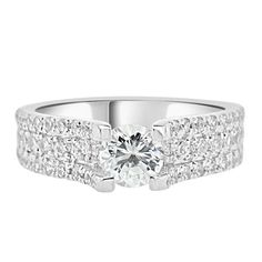 0.40 carat CZ Engagement Ring Cubic Zirconia Wedding Sterling Silver Rhodium Plated