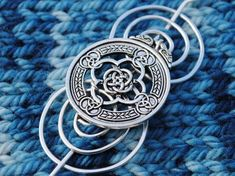 Celtic Knot Shawl Pin in Silver Celtic Circle, Celtic Knot Designs, Layered Necklaces Silver, So Little Time, Knitting Patterns, Knitting Ideas, Great Gifts, Charmed, Sterling Silver