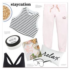 """rest up: staycation"" by mycherryblossom ❤ liked on Polyvore featuring Scotch R'Belle, Home Decorators Collection, Charter Club and Macmillan"