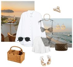 Beach Picnic Outfit | ShopLook Beach Day Outfits, Picnic Outfits, Summer Outfits, Weekend Vacations, Beach Picnic, Outfit Maker, Gold Hair, Classic, Style