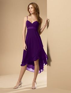 Egg plant purple bridesmaids dress