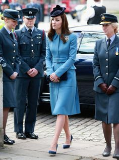 2/7/16.   All eyes on Kate: The Duchess drew in everyone's attention in her elegant blue outfit