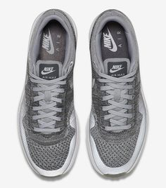"Nike Air Max 1 Ultra Flyknit ""Wolf Grey & DarkGrey"" - EU Kicks: Sneaker Magazine"