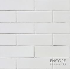 Encore Ceramics | 2 x 6 field tile hand-glazed in Milk gloss, part of our Quick Ship collection | Sustainably made in Oregon