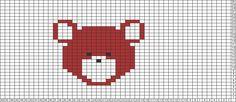 Tricksy Knitter Charts: BEAR HEAD by paulabirdlady