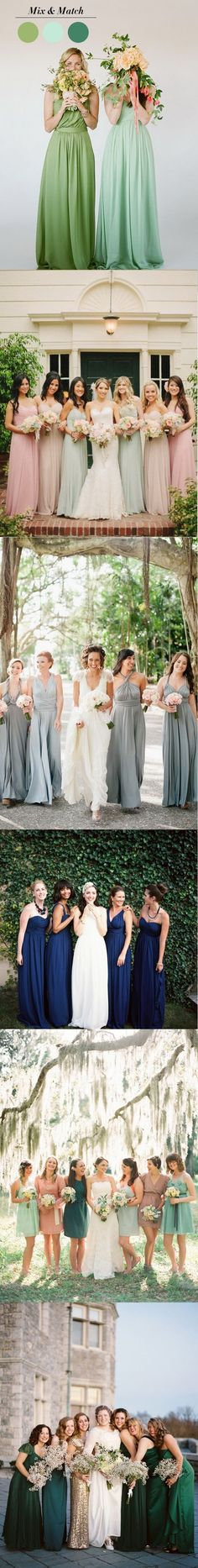 chic mismatched bridesmaid dresses style ideas for 2015