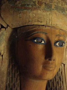 Egyptian Princess. Anthropoid Coffin of Heresenes, detail. Dynasty 26 (664-525 BCE). Metropolitan Museum of Art, New York. mod