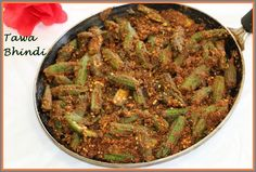 Have you ever tried Tawa Bhindi dish??? No, try this recipe, an easy and delicious. This Okra / Ladies finger / Bhindi offers North Indian and tasty twist to a typical Bhindi recipe. Tawa Bhindi is a pan fried Okra with garlic, besan and spices. Tawa Bhindi is a simple side dish, can be served with Paratha, Roti, Rice or naan. Tawabhindi_main1