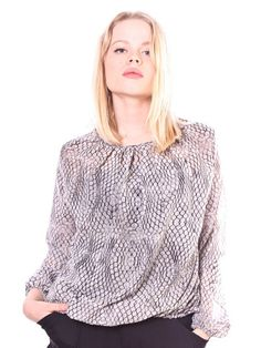 "Chiffon top by Kabelis, a brand that call themselves after a Lithuanian word ""cable""..."