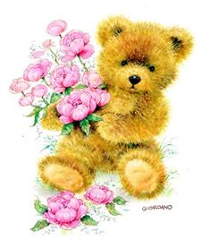 Bear with Pink Flowers
