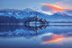 Kościół, Góry, Jezioro, Odbicie