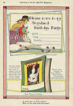 Vintage invitation by shelece, via Flickr