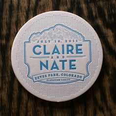 Brad O'Sullivan | Smokeproof Press | Letterpress Invitation: Claire + Nathan