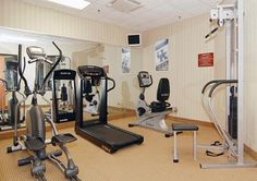 Hotel fitness center at Sleep Inn