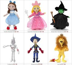 Wizard of Oz dolls. Note: Will add product links soon