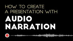 Embed your voice on your own presentation. Learn to insert audio presentation in your slides through Visme here! http://itz-my.com