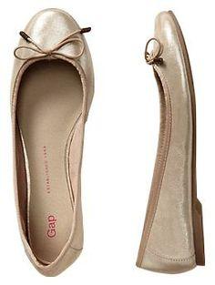 leather ballet flats / gap