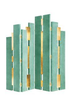 Empire   Folding Screen   Green www.munnadesign.c... #munnadesign #foldingscreen #greenduckegg #green #roomdivider #timecollection