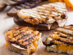 Eggplant Grilled Cheese Sandwich   Quick and easy eggplant recipe and fast vegetarian grilled cheese recipe with eggplant.