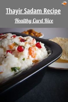 Curd Rice Recipe or Thayir Sadam is a perfect comfort food and is a very popular South Indian dish. Curd rice recipe is a combination of steamed rice and curd, tempered with mustard seeds, curry leaves, asafoetida, dry chilies, and urad dal. #curdrice #healthy #thetastesofindia #curd Rice Recipes For Lunch, Best Breakfast Recipes, Easy Healthy Recipes, Dinner Recipes, Vegetarian Lunch, Vegetarian Recipes, Curd Rice Recipe, Cheap Meals, Easy Meals