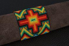 Chacana Cross Bracelet - Sacred Fire
