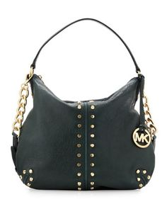 Uptown Astor Large Satchel Bag, Hunter Green by Michael Kors at Last Call by Neiman Marcus.