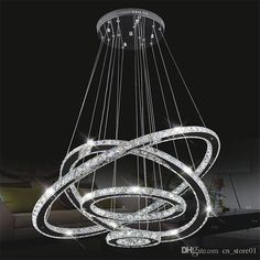 Modern Led Diamond Ring Chandeliers Chrome Mirror Finish Stainless Steel Room Hanging Lamp Led Chandelier Lustres Lantern Chandelier Globe Chandelier From Cn_store01, $769.93| Dhgate.Com