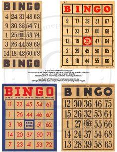 Printable Bingo Cards. www.InstantPrinta...