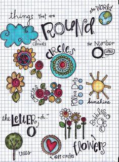 Circles workbook page