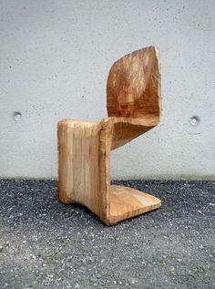 Wooden Panton chair by Matthias Brandmaier