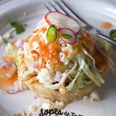 "Sopes de Pollo – Chicken Sopes  October 15, 2016 Recipe & Art Direction: Mariana McEnroe | Photography: Ian McEnroe sopes-de-pollo chicken sopes_yes-more-please!  Antojitos Mexicanos…These are the ""small bites"" in Mexican street food. Go to the fair or the Tianguis (street market) and they are the perfect food for an impromptu craving. Sopes de Pollo – Chicken Sopes is one of them!"