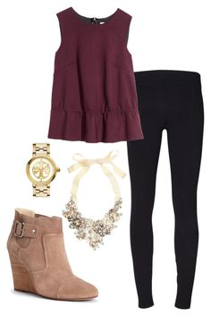 Fall preppy outfit by perfectlypreppy15 on Polyvore featuring H&M, Helmut Lang, Sole Society, J.Crew and Tory Burch