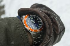 Glycine Combat SUB Automatic watchness. Rugged.