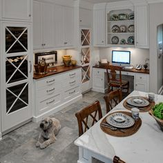 White and Warm Classic Traditional Kitchen - Drury Design