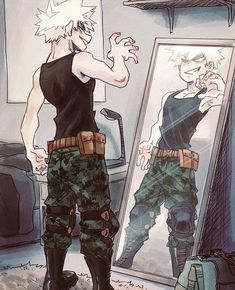 Scary Bakugou is still her baby😂😁😊 credit to syblatortue My Hero Academia Shouto, Hero Academia Characters, Anime Characters, Hot Anime Boy, Anime Guys, Anime Girl Short Hair, Sad Anime Girl, Girl Hair, Tsundere